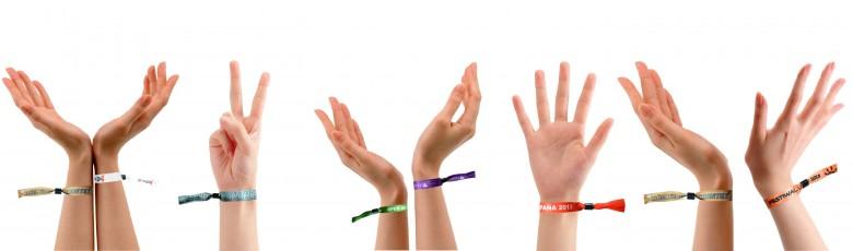 Heat transfer wristbands